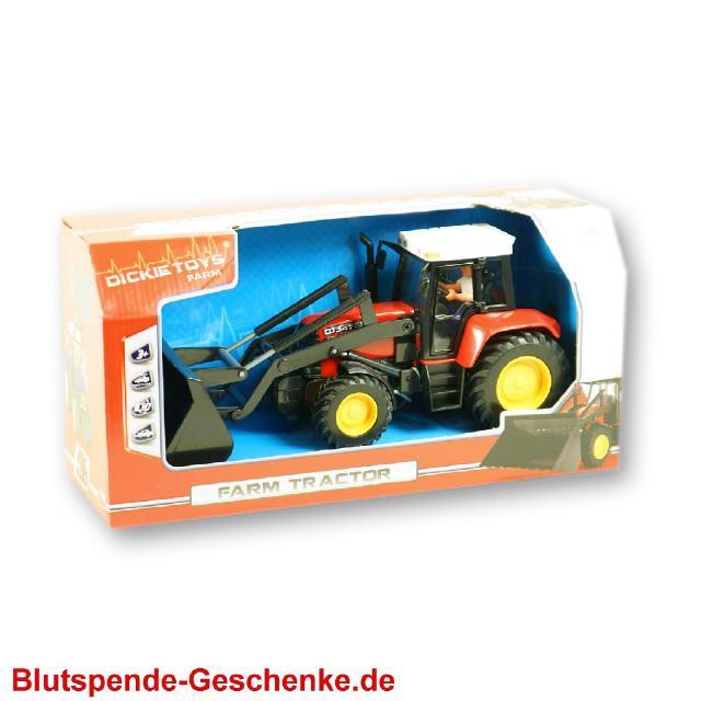 blutspendegeschenk traktor mit schaufel